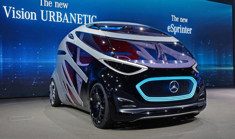Der Vision Urbanetic ist ein vollkommen autonomes Fahrzeug.