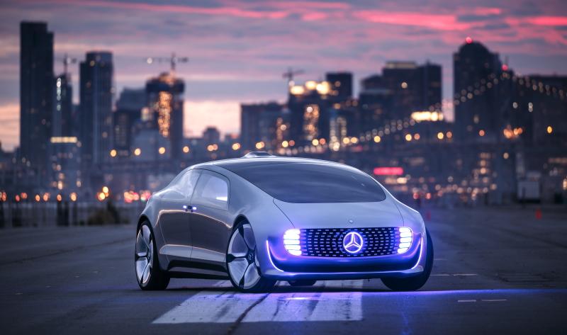 Der Mercedes F 015: ein vollautonomes Fahrzeug