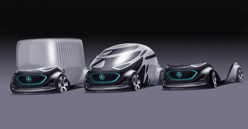 Der Vision Urbanetic lässt sich mit verschiedenen Aufbauten ausstatten. ( Bildnachweis: © Daimler)
