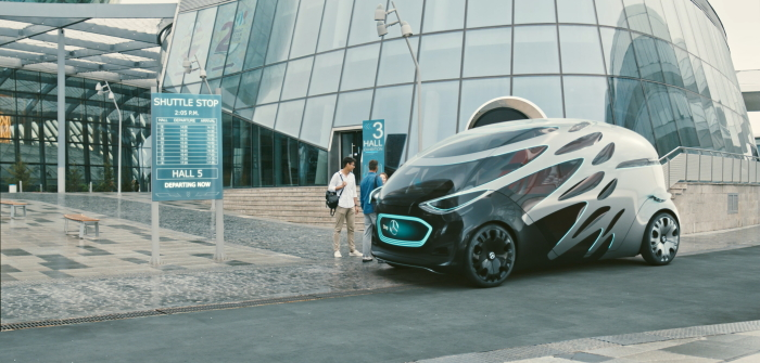 Mercedes Future Car: Ein Fahrzeug für den Verkehr der Zukunft ( Bildnachweis: © Daimler)